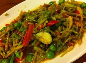 resep sayuran oseng bunga pepaya tauco