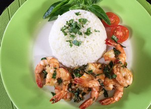 Resep Nasi: Butter Rice and Garlic Prawn