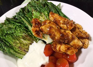 Resep Salad: Grilled Cos Lettuce and Chicken Salad