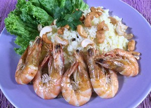 Resep Nasi: Saffron Rice with Prawn