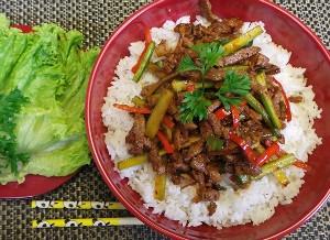Resep Daging: Donburi Chilli Beef