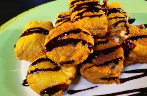 Resep Kue: Biskuit Goreng Saus Cokelat