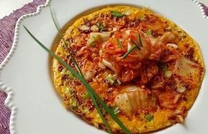 Resep Telur: Omelet Kimchi
