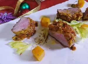 Resep Bebek : Roasted Duck Betutu with Orange Pumpkin