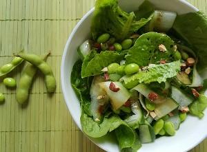 Resep Salad: Selada Edamame dan Mentimun