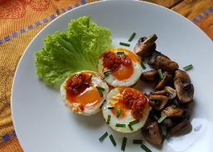 Resep Telur: Telur Ayam Panggang Jamur
