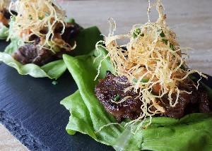 Resep Daging : Lettuce Wrap
