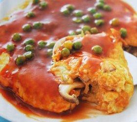 Omelet Jamur Saus Bbq