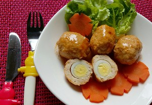 Resep Anak : Bola-bola Ayam Isi Telur