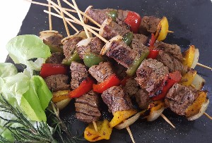 Resep Daging: Beef and Vegetable Shashlik