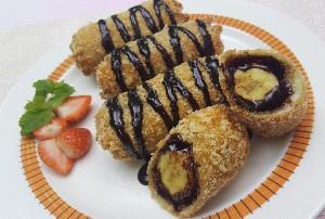 Resep Roti : SARI ROTI Goreng Pisang Cokelat